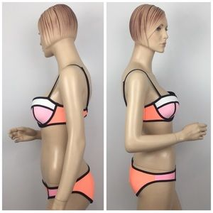 triangl swimwear Swim - Triangl Poppy Peach Soda Colorblock Bikini Small